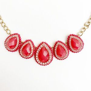 Jewelry - Shades of Pink Statement Necklace with Gold Chain